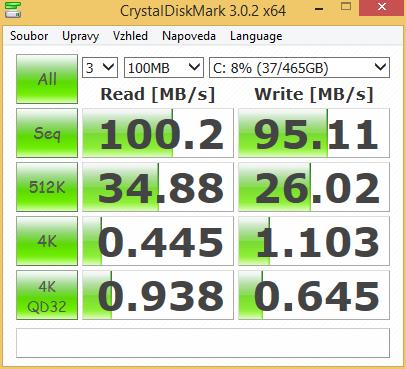 Aspire E1-531G CrystalDiskMark