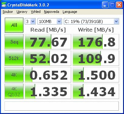 Test CrystalDiskMark