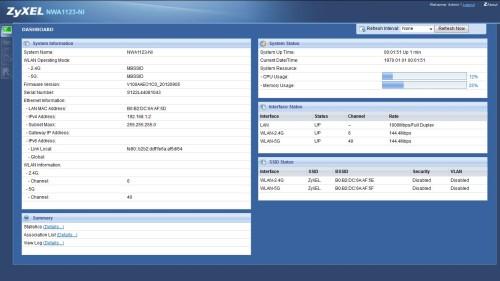 NWA1123-NI Dashboard