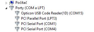 USB ovladač pro OPN2001 vytvoří virtuální COM port